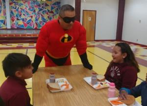 Mr. Incredible and honor roll students