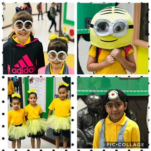 minion dressed students