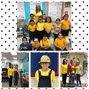 minion dressed students and teachers