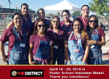 volunteers across the  district