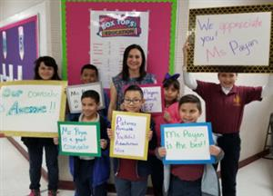 Ms. Payan and students