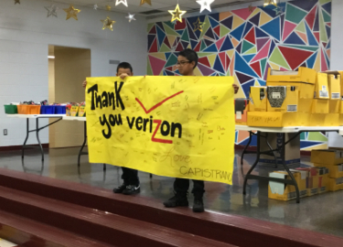 Verizon Donates School Supplies