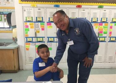 Mr. Garcia was our Principal for a Day