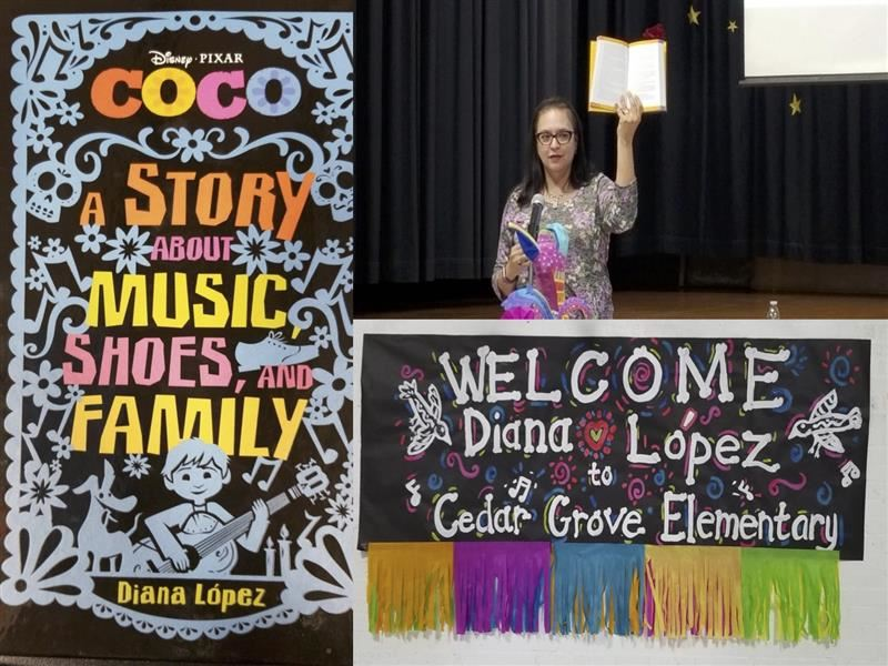 Author Diana Lopez visits Cedar Grove Elementary School