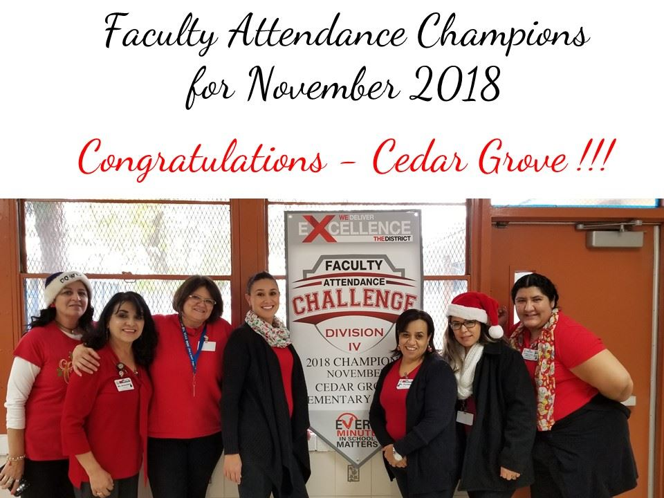Faculty Attendance Champions