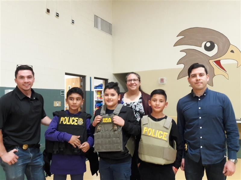 DEA Visits CHES To Kick Off Red Ribbon Week