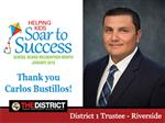 Riverside Trustee Mr. Carlos Bustillos