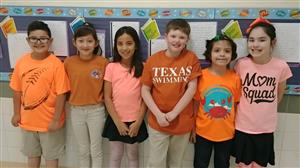 Student wear orange in support of Histiocytosis