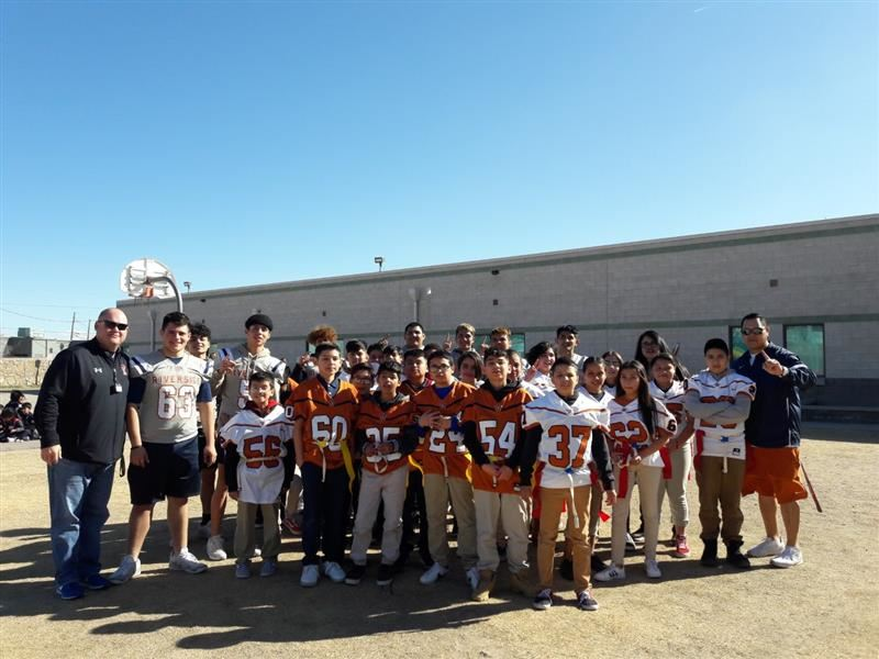 Riverside High School Football Mentors CHES Students