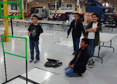 Students program drones to fly autonomously at the 5 Star Innovations Challenge