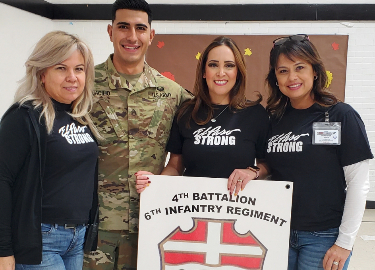 Soldiers from Fort Bliss volunteered at Del Norte's Thanksgiving Celebration November 22, 2019