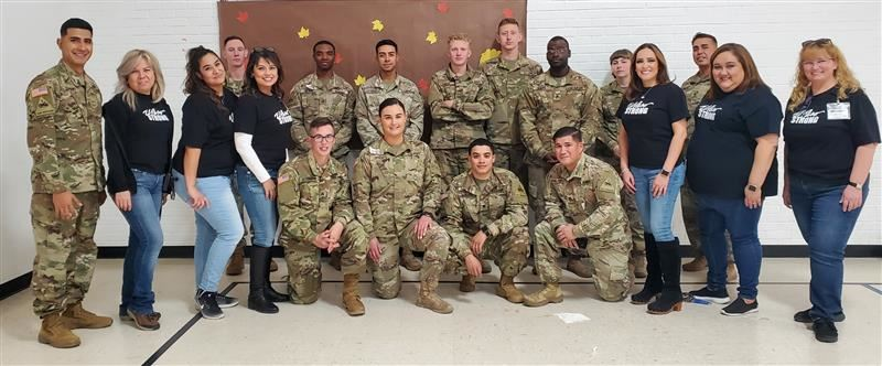 Fort Bliss Soldiers volunteered their time at Del Norte Elementary for our Thanksgiving Luncheon