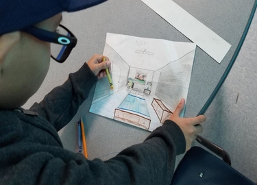 DOLPHIN TERRACE STUDENTS LEARN 1 POINT PERSPECTIVE
