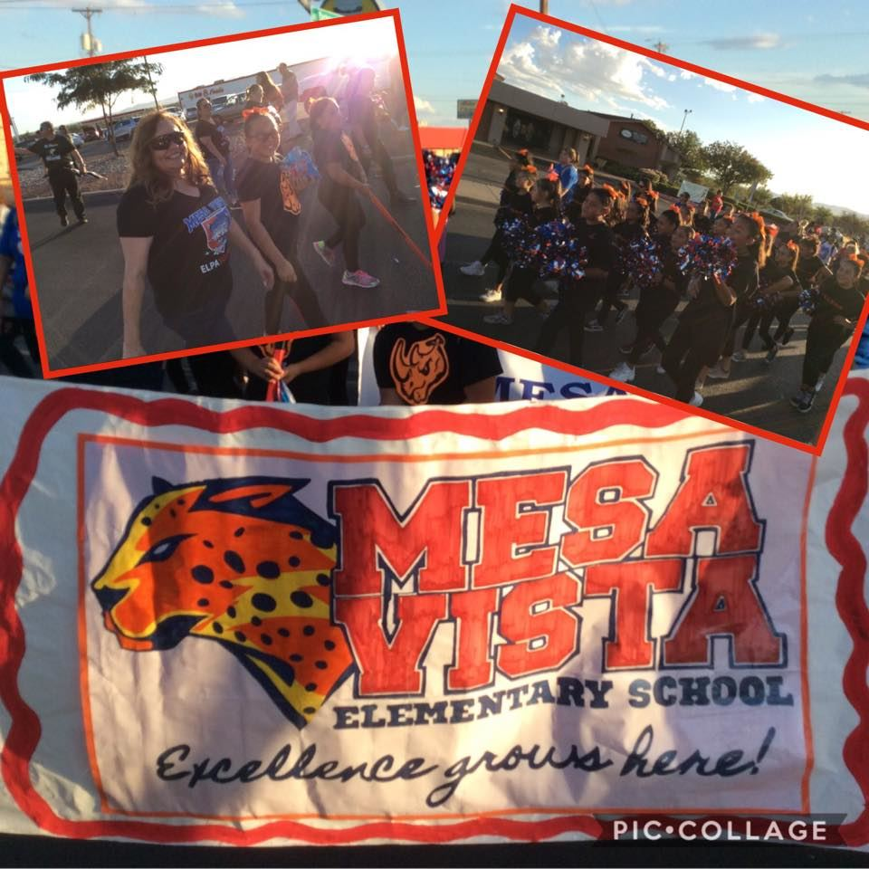 Mesa Vista students and staff celebrate in the Bel Air High School Homecoming Parade.