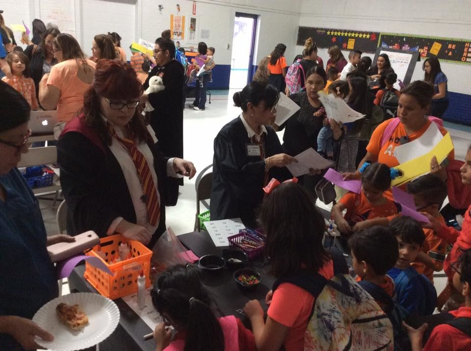 Students enjoyed reading activities during the Literacy Expo at Mesa Vista.