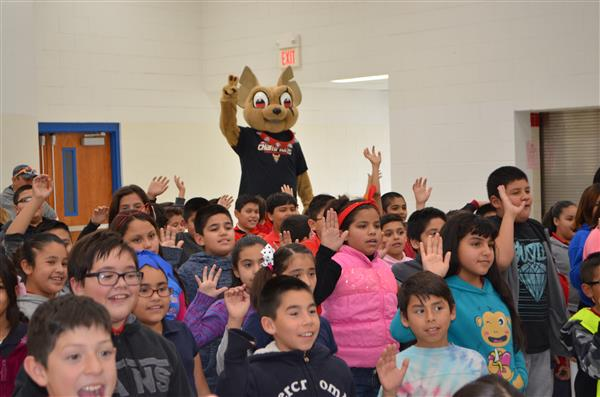 Chico visits North Loop Elementary
