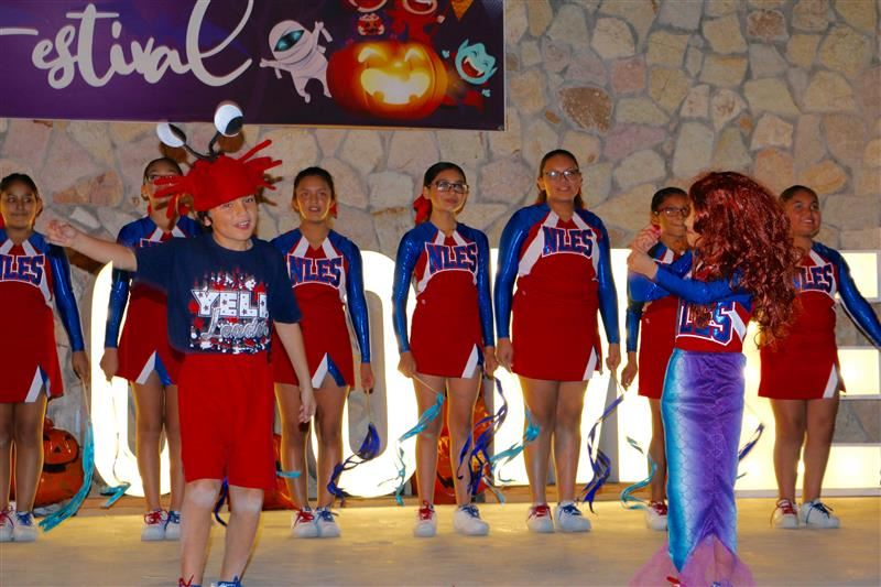 Cheer and Dance team perform at Fall Festival