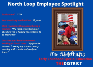 Ms. Abdelhafez, Employee Spotlight