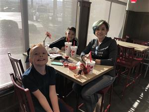 Family supporting PTA Spirit Night at Chick-fil-A