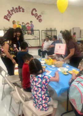 Families enjoying arts and crafts