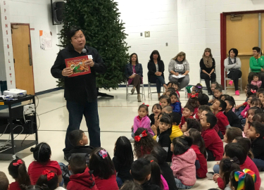 Author Woody Kuon Visits our School