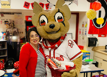 Chico Visits our Top 5 Elementary Teacher of the Year