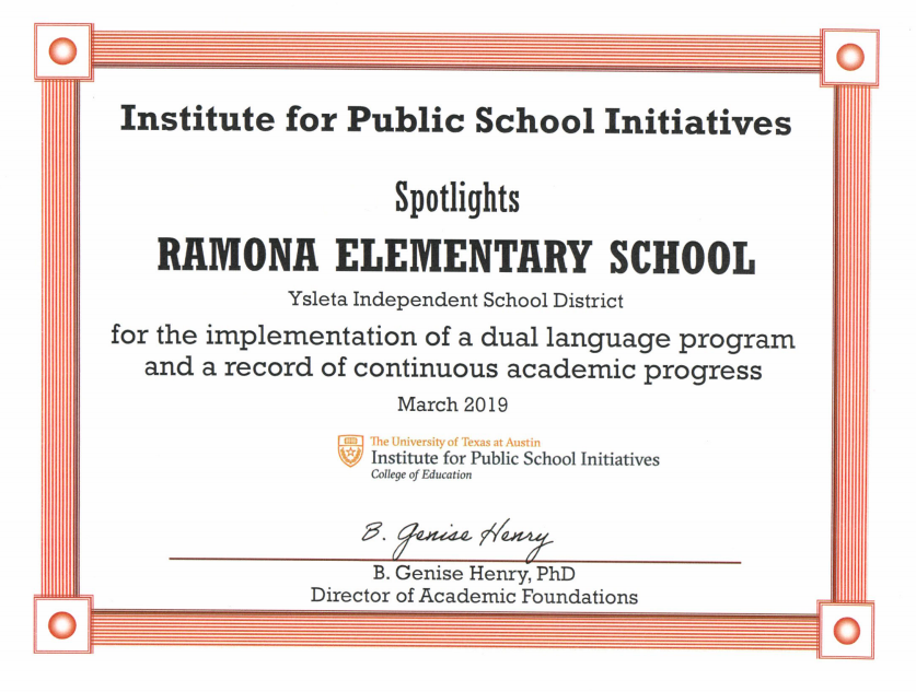 Institute for Public Schools Initiatives SPOTLIGHTS Ramona Elementary School