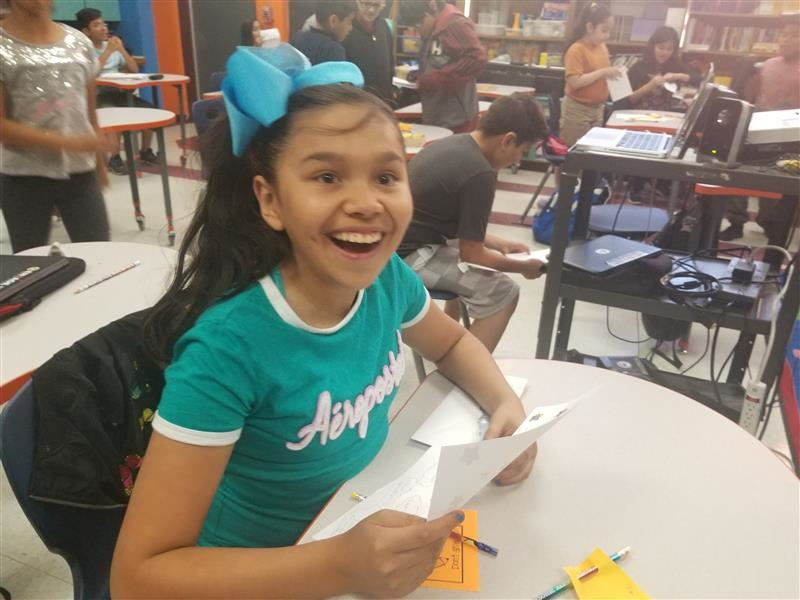 Students receive letters of encouragment form parents them for the STAAR test.