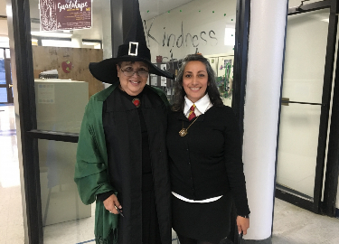 Office workers dressed up as Harry Potter characters