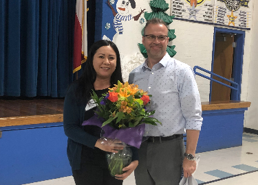 Debbie Vasquez and John West Teachers of the Year