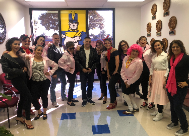Scotsdale Faculty dressed up for Halloween 50's Style