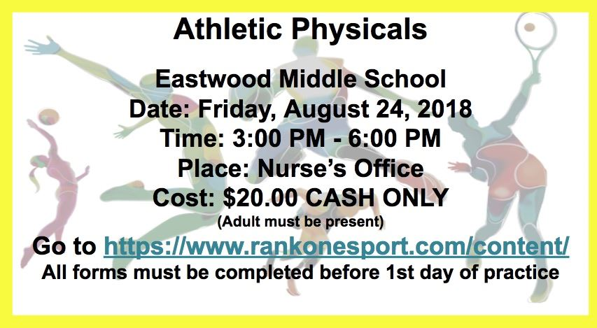 EMS New School Year Athletic Physicals