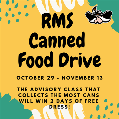 STUCO Canned Food Drive Graphic
