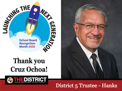Working to make a difference: Thank you District 5 Trustee Mr. Cruz Ochoa