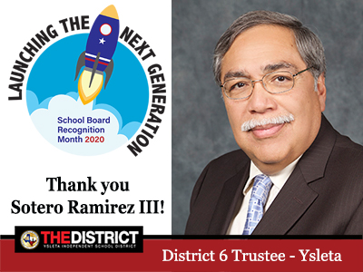 Committed to the future: Thank you District 6 Trustee Mr. Sotero Ramirez III