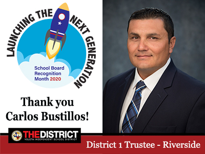 Working to make a difference: Thank you District 1 Trustee Mr. Carlos Bustillos