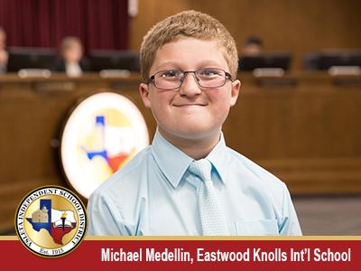 Eastwood Knolls Int'l School student honored with May President's Award
