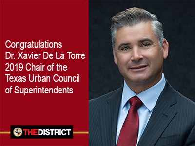 Dr. De La Torre leads Texas Urban Council of Superintendents