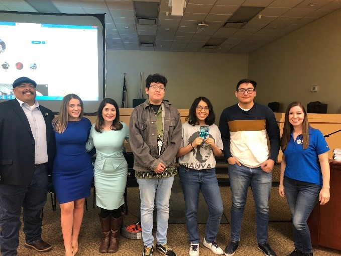 Video Contest winners from Del Valle High School