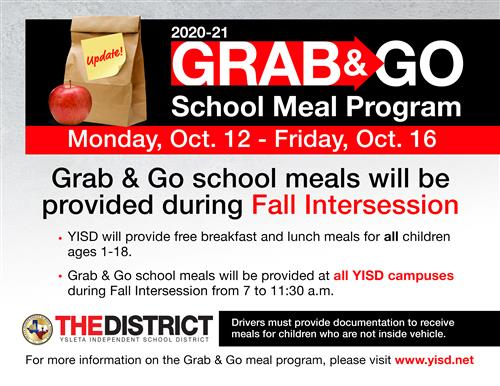 Grab and Go Flyer in English