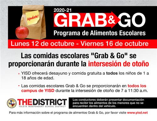 Grab and Go Flyer in Spanish