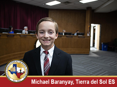 Tierra Del Sol fifth-grader receives the June President's Award