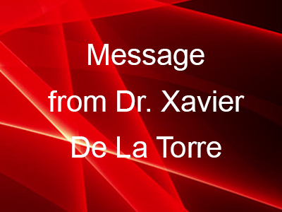 Special message from Dr. Xavier De La Torre