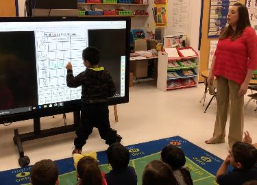 Video of students utilizing new technology