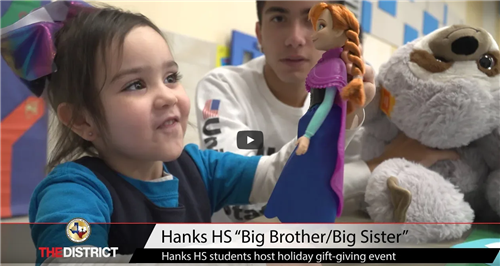 "Hanks HS ""Big Brother/Big Sister"""