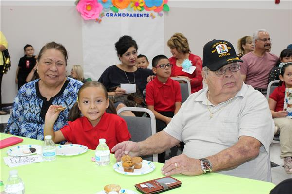 Grandparents enjoy some quality time with their grandchildren.