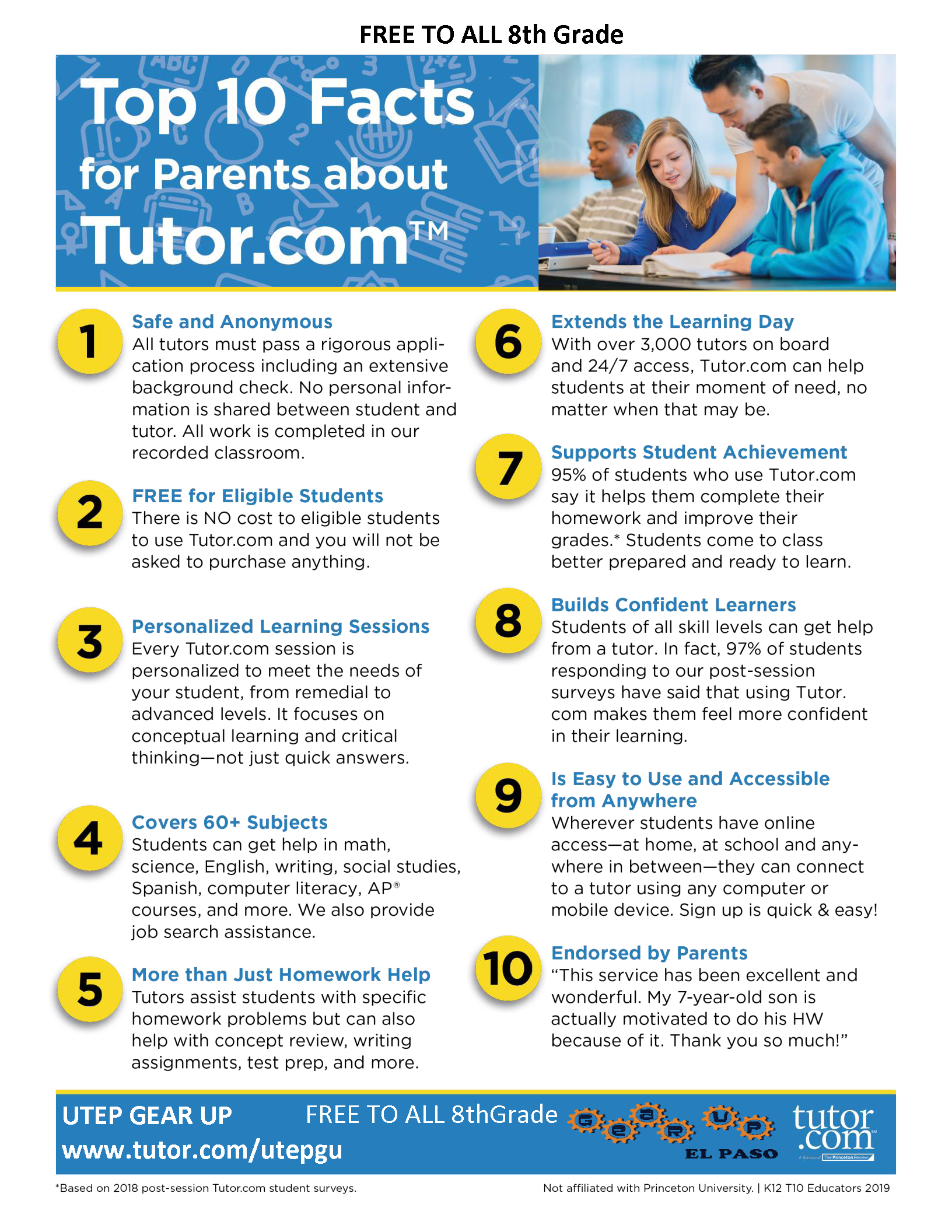 Parent Handout-Tutor.com