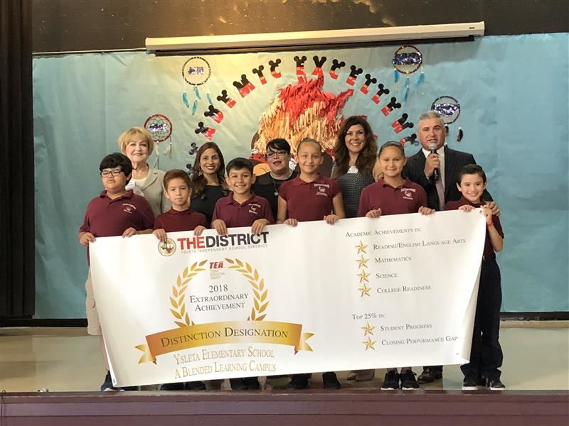 Ysleta Elementary students, faculty and staff received a recognition for earning six distinctions.