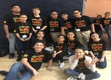 T-STEM kids competing at the First Lego League competition at UTEP