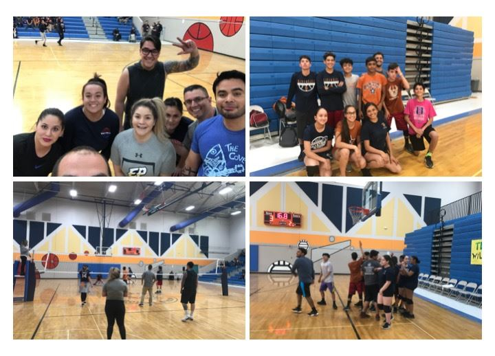 Students and Teachers Unwind in Volleyball Game